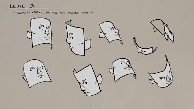 آموزش طراحی زوایای گوناگون چهره