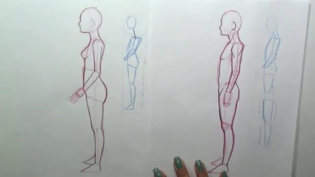 آموزش طراحی بدن انسان از نمای کناری ساید