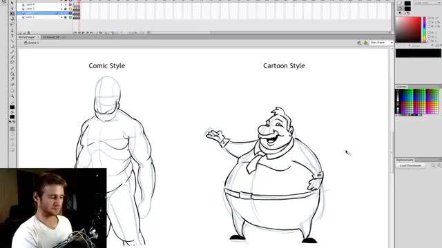 آموزش طراحی انواع بدن مردهای چاق
