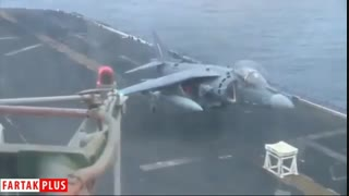 فرود عمودی جنگنده هریر با چرخ جلو بسته!
