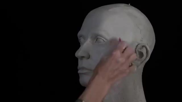 آموزش طراحی و ساخت مجسمه سر یک انسان