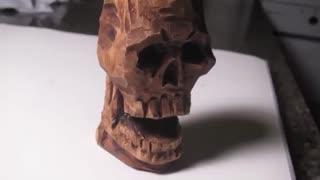 ✅ آموزش طراحی  و ساخت مجسمه سر جمجمه اسکلت
